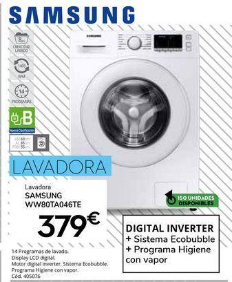 Oferta de Lavadoras Samsung por 379€
