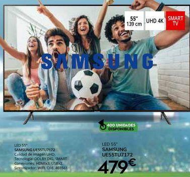 Oferta de Tv led Samsung por 479€