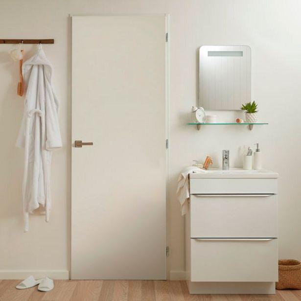 Oferta de Puerta Exmoor blanca izquierda 203 x 62,5 cm por 55€