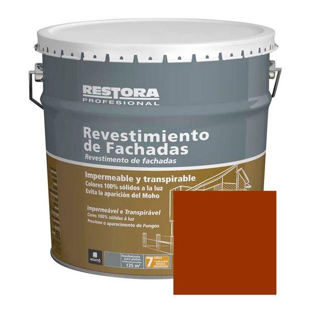 Oferta de REVESTIMIENTO ROJO INGLÉS FACHADAS RESTORA PROFESIONAL 15 L por 46,95€