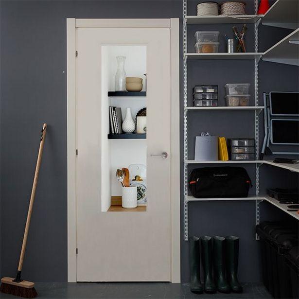 Oferta de Puerta acristalada Exmoor blanca derecha 203 x 82,5 cm por 129€