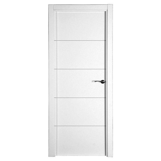 Oferta de Puerta Bruselas lacada blanca izquierda 203 x 82,5 cm por 109€