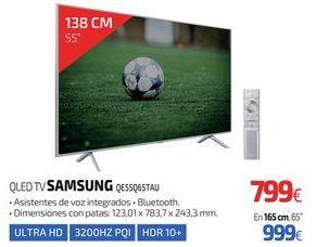 Oferta de QLED TV SAMSUNG QE55Q65TAU por 799€