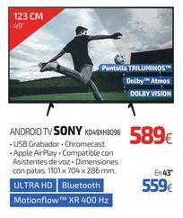 Oferta de ANDROID TV SONY KD49XH8096 por 589€