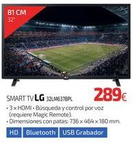 Oferta de SMART TV LG 32LM637BPL por 289€
