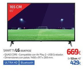 Oferta de SMART TV LG 65UN711C0Z por 669€