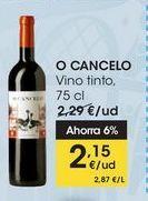 Oferta de O CANCELO Vino tinto, 75 cl por 2,15€