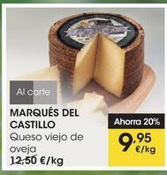 Oferta de MARQUÉS DEL CASTILLO Queso viejo de oveja por 9,95€