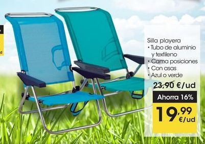 Oferta de Silla playera por 19,99€