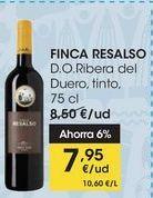 Oferta de FINCA RESALSO D.O. Ribera del Duero, tinto, 75 cl por 7,95€