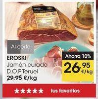 Oferta de EROSKI Jamón curado D.O.P. Teruel por 26,95€