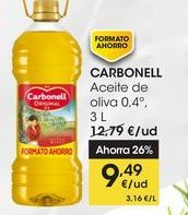 Oferta de CARBONELL Aceite de oliva 0,4º,3 L por 9,49€