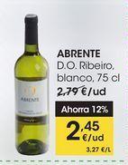 Oferta de ABRENTE D.O. Ribeiro, blanco, 75 cl por 2,45€