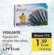 Oferta de VIGILANTE Aguja en aceite de oliva, 120 g por 1,59€