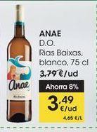 Oferta de ANAE D.O. Rias Baixas, blanco, 75 cl por 3,49€