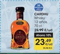 Oferta de CARDHU Whisky 12 años, 70 cl por 23,49€