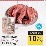 Oferta de MOITOMAR Pulpo, 1-2 kg por 10,95€