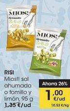 Oferta de RISI Mios!! sal ahumada o tomillo y limón, 95 g por 1€