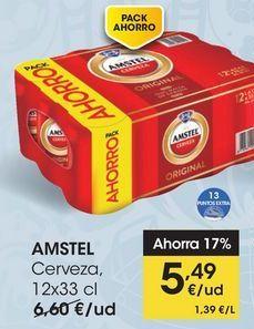 Oferta de AMSTEL Cerveza, 12x33 cl por 5,49€