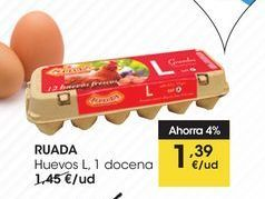Oferta de RUADA Huevos L, 1 docena por 1,39€