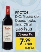Oferta de PROTOS D.O. Ribera del Duero, roble, tinto, 75 cl por 7,99€