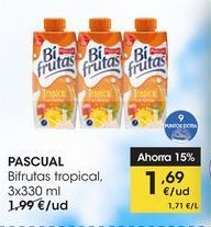 Oferta de PASCUAL Bifrutas tropical,  3x330 ml por 1,69€