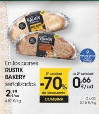 Oferta de En los panes RUSTIK BAKERY señalizados por 2,19€