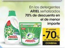 Oferta de En los detergentes ARIEL señalizados 70% de descuento en el de menor importe por
