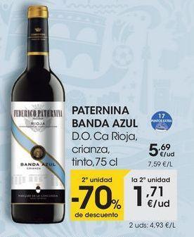 Oferta de PATERNINA BANDA AZUL D.O. Ca Rioja, crianza, tinto, 75 cl por 5,69€