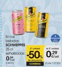 Oferta de En las bebidas SCHWEPPES 25 cl señalizadas por 0,59€
