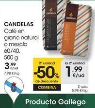 Oferta de CANDELAS Café en grano natural o mezcla 60/40,  500 g por 3,99€