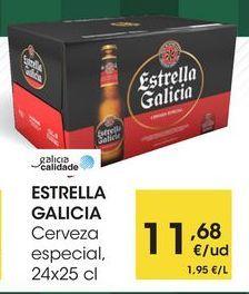 Oferta de ESTRELLA GALICIA Cerveza especial, 24x25 cl por 11,68€