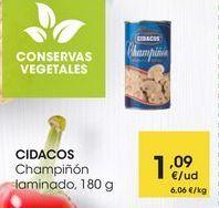 Oferta de CIDACOS Champiñón laminado, 180 g por 1,09€