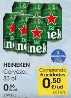 Oferta de HEINEKEN Cerveza, 33 cl por 0,66€