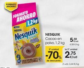 Oferta de NESQUIK Cacao en polvo, 1,2 kg por 5,5€