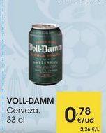 Oferta de VOLL-DAMM Cerveza, 33 cl por 0,78€