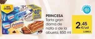 Oferta de PRINCESA Tarta gran dama de nata o de la abuela, 850 ml por 2,45€