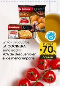 Oferta de En los productos LA COCINERA señalizados 70% de descuento en el de menor importe por