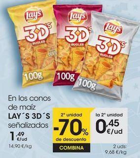 Oferta de En los conos de maíz LAY ́S 3D ́S señalizados por 1,49€