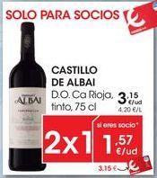 Oferta de CASTILLO DE ALBAI D.O. Ca Rioja, tinto, 75 cl por 3,15€