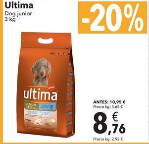 Oferta de Ultima Dog junior 3kg por 8,76€
