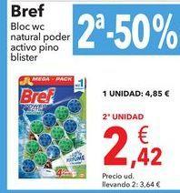 Oferta de Bloc WC natural poder activo pino blister por 4,85€