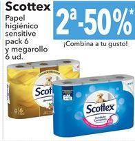 Oferta de Papel higiénico sensitive pack 6 y megarollo 6 ud. por
