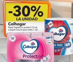 Oferta de Colhogar papel higiénico protect 12 ud o papel cocina para todo 1 ud. por