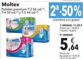 Oferta de Moltex pañales premium por 11,29€