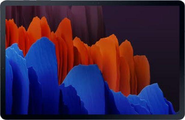 Oferta de Samsung Galaxy Tab S7+ 5G SM-T976B LTE 128 GB 31,5 cm (12.4) Qualcomm Snapdragon 6 GB Wi-Fi 6 (802.11ax) Android 10 Negro por 989€