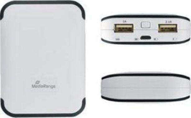 Oferta de MEDIARANGE MediaRange MR742 batería externa Gris, Blanco Ión por 14,87€