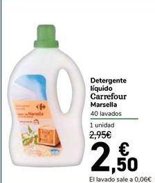 Oferta de Detergente líquido Carrefour Marsella por 2,5€