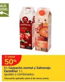 Oferta de En Gazpacho normal o salmorejo Carrefour por