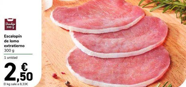 Oferta de Escalopín de lomo extratierno 300 g por 2,5€
